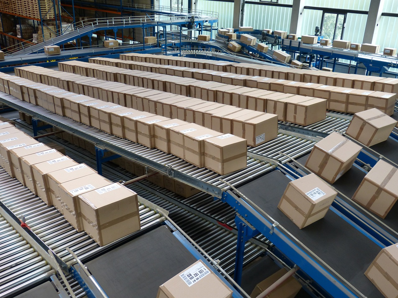 Paketverarbeitungszentrum